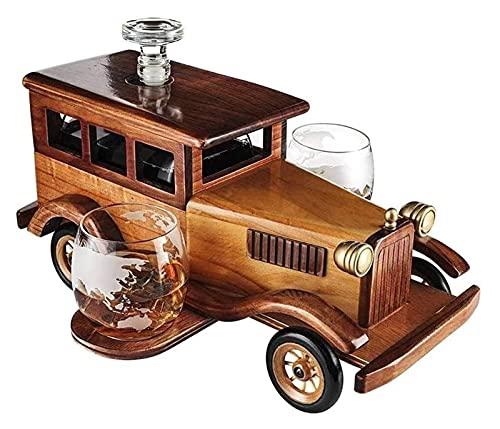 AIEL Whisky Decanter Crystal Anticipido Coche de Moda Whiskey Decanter Set, con 2-10oz Whiskey Tumbler Old Fashion Globes, 750ml Decanter Spigot Dispensador de Licor Libre sin Plomo 41
