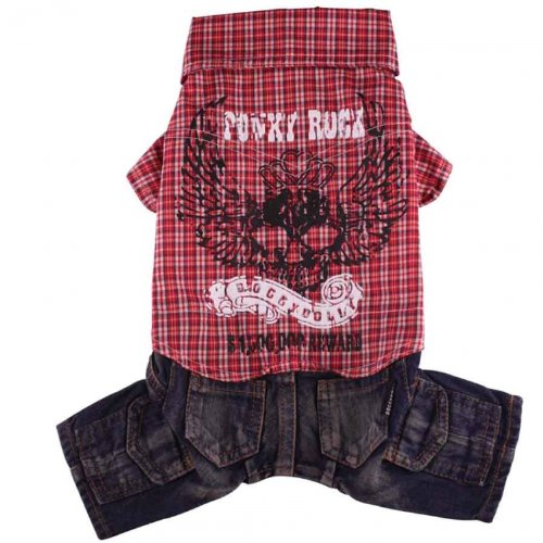 Doggydolly Punky with Pant Red de