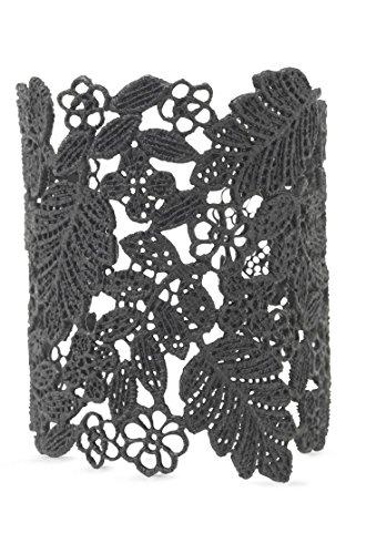 Stella Dot Chantilly Lace Cuff (black)