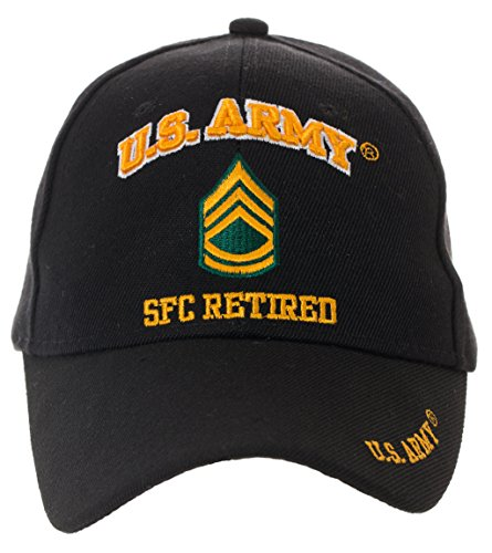 Officially Licensed US Army Retired Baseball Cap - Multiple Ranks Available! (Sergeant First Class)
