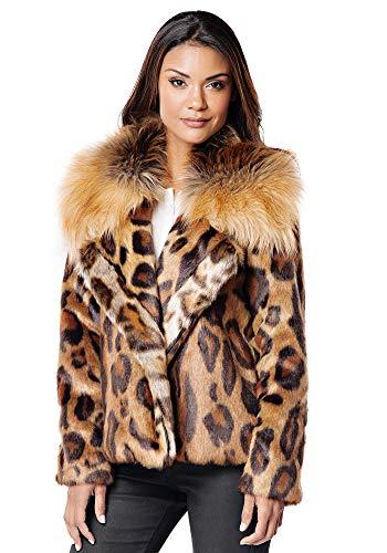Donna Salyers' Fabulous-Furs Leopard Faux Fur Downtown Jacket (S) (Leopard)