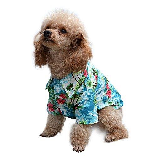 EXPAWLORER Hawaiian Pet Dog Polo T Shirts Cute for Small to Medium Puppy Cats Cool Summer Custom VES