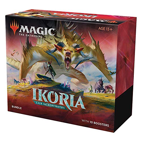 Magic: The Gathering Ikoria: Lair of Behemoths Bundle | 10 Booster Packs (150 Cards) | Foil Lands | Accessories
