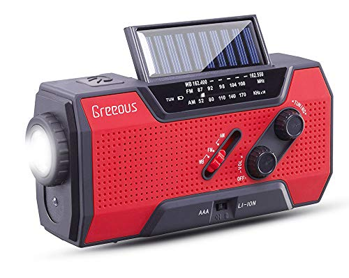 Solar Radio, Hurricane Weather Radio,Waterproof, Hand Crank,...
