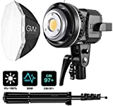 GVM 80W Video Lighting Kit, Continuous Output Lighting Kit, Professional Studio Photography Softbox Lighting Kit, 5600K Day Light LED Video Light Bowens Mount for Portrait Product Fashion Photography