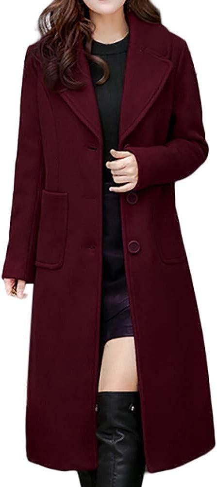 LISTHA Trench Jacket Plus Size Women Winter Lapel Wool Coat Long Parka Overcoat