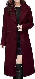 Sale Women Woolen Trench Topcoat Long Slim Fit Business Outwear Ladies Winter Lapel Jacket Overcoat Pencil Coat