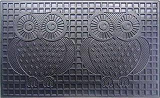 Geo Crafts Rubber Two Owls Doormat