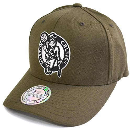 Mitchell & Ness NBA Logo Snapback 110 Boston Celtics Olive