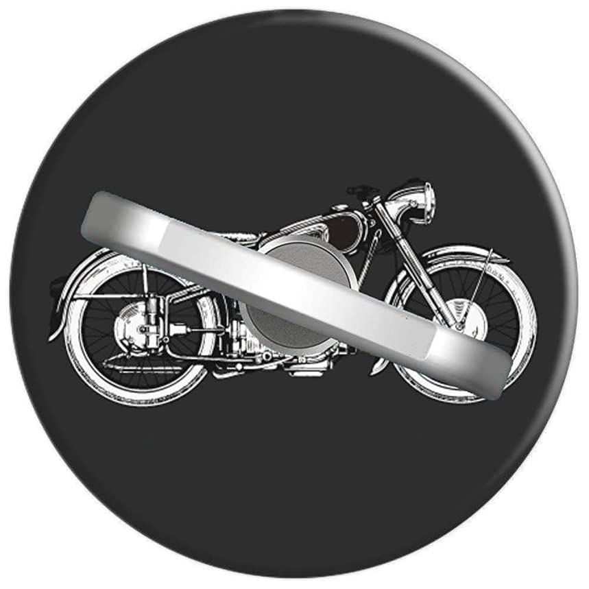 Phone Ring Stand Holder Metal Finger Grip Stand Retro Vintage Motorcycle I Love My Motorcycle, Car Mount 360 Degree Rotation Phone Ring Grip for iPhone Phone Ring Stent 1U626