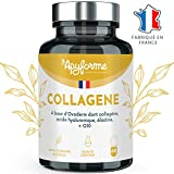 Collagène 100% Naturel - Plus Efficace que du Collagène Marin - Enrichi en Acide Hyaluronique, Elastine et Co Enzyme Q10 - Action Anti âge et Anti Rides - 60 Gél/30j - Fabriqué en France par Apyforme