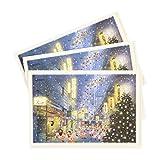 グリーティングライフ クリスマス カード 和風 ミニサンタ 3枚セット 有楽町 SJ-23-AM