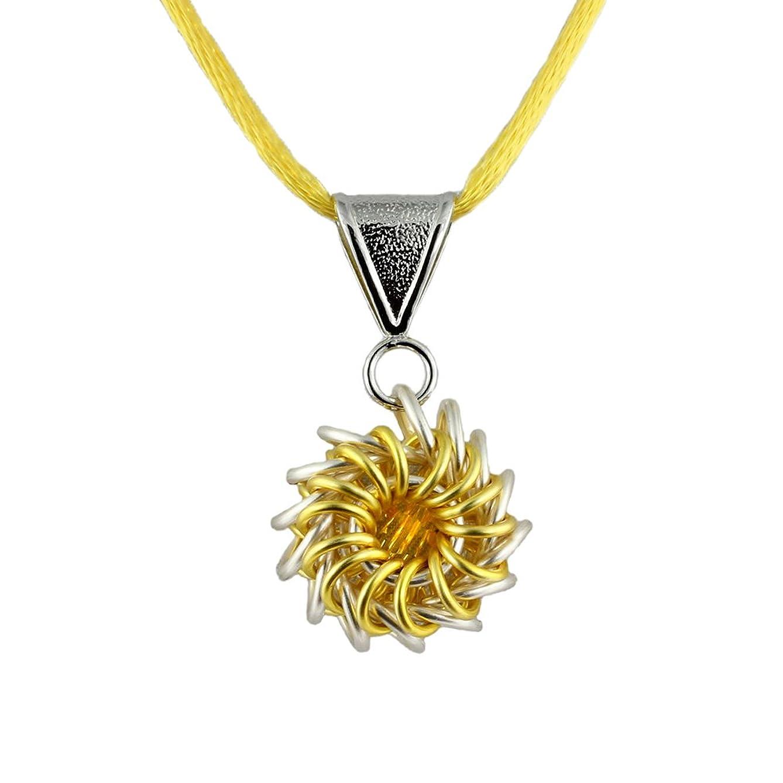 Lemon Whirlybird Chain Maille Necklace Kit