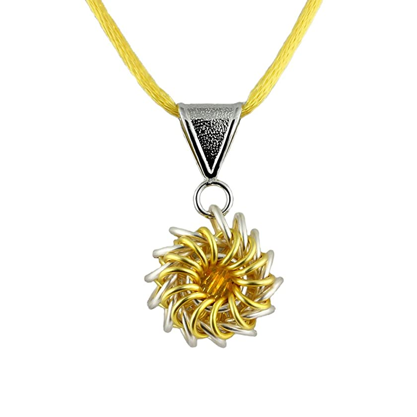Lemon Whirlybird Chain Maille Necklace Kit