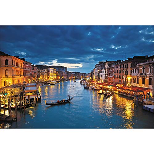 Rompecabezas para Adultos Ciudad del Agua Romántica Venecia Paisaje Nocturno Decoración Juguetes Educativos Descompresión Ocio 500/1000/1500 Piezas (Size : 1500 pcs)