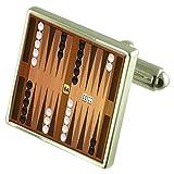 Select Gifts Juego de Tablero de Backgammon Gemelos Plata esterlina Grabados de Verificación Opcional