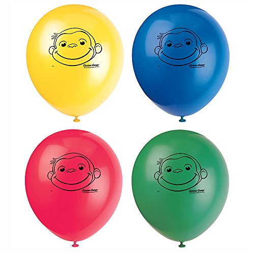 Curious George Latex Balloons [8 Per Pack]