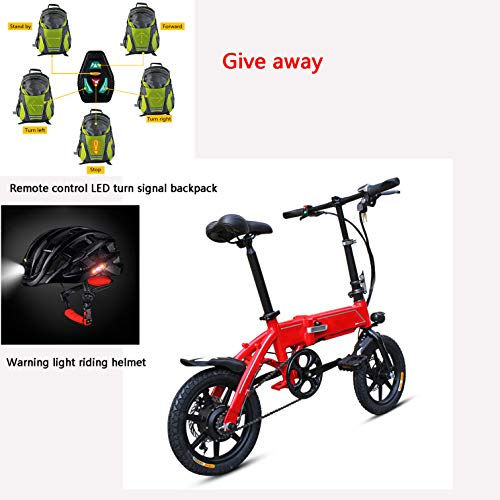Best Review Of LIZONGFQ Ebs Electric Bicycle Folding 14-inch Light Moped, Equipped with Removable Hi...
