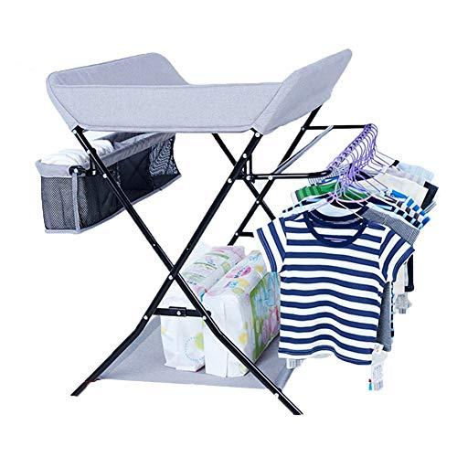 Tables à langer Pliante Multifonctionnelle pour Bébé, Station De Commode De Chambre d'enfant De Table De Soins De Massage (Couleur : Gray)