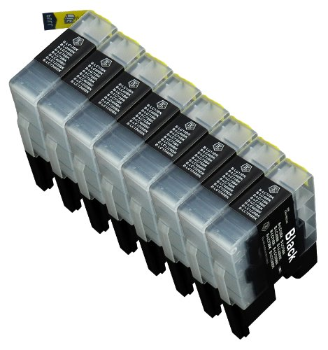 8 Multipack de alta capacidad Brother LC1240 , LC1280 Cartuchos Compatibles 8 negro para Brother DCP-J525W, DCP-J725DW, DCP-J925DW, MFC-J430W, MFC-J5910DW, MFC-J625DW, MFC-J6510DW, MFC-J6710DW, MFC-J6910DW, MFC-J825DW. Cartucho de tinta . LC-1240BK © 123 Cartucho