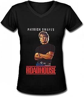 LDL228 Pattrick Swayze T Shirt for Womens Contton Black