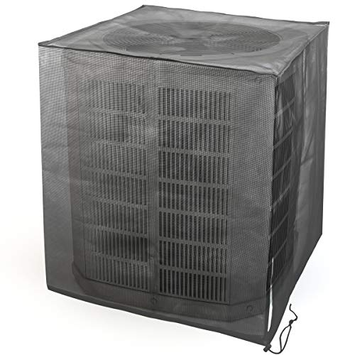 Luxiv Full Mesh Central Air Conditioner Cover, All Seasons Mesh Air Conditioner Leaf Guard AC Cover for Outdoor Central Ac (31.5 x 31.5 x 35.5)