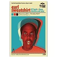 アールスウェットシャツアメリカンオブオッドフューチャーヒップホップミュージックアートポスターキャンバスペインティング家の装飾-50x70CMフレームなし