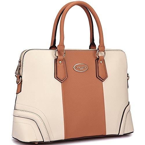 Dasein Designer Slim Rolled Top Handle Briefcase Satchel Shoulder Bag Handbag Tablet...
