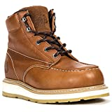 ROCKROOSTER Work Boots for Men, CompositeToe Waterproof Puncture Resistant Safety Working Shoes (F1-AP828, 10.5-BRN)