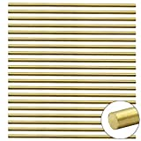 PLCatis 20 Pièces Tige en Laiton 3 x 100MM Barre Cylindrique en Laiton Massif Tige Courte en Métal dans Domaine Industriel pour Fraisage Tournage Perçage - Solide et Coupable