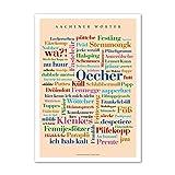 Poster Aachener Wörter (50x70 cm)