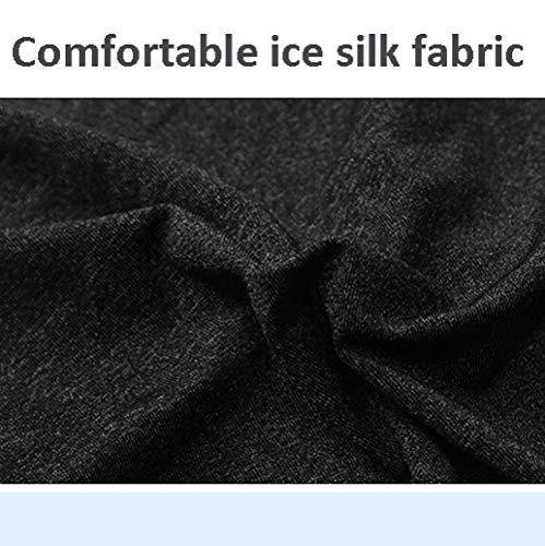 XCJ Señoras bufanda regalo seda seda protector solar toalla hombres 's verano sombreado triángulo magia diadema bufanda conjunto sección delgada,Gris
