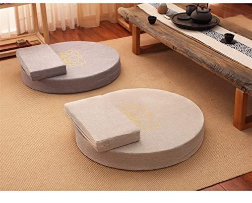 ChenBing Bodenkissen zur Meditation Meditationskissen Futon Meditationskissen Yoga Bolster Waschbar geeignet for zu Hause Meditieren (Farbe : Beige, Größe : 70x70x6cm)