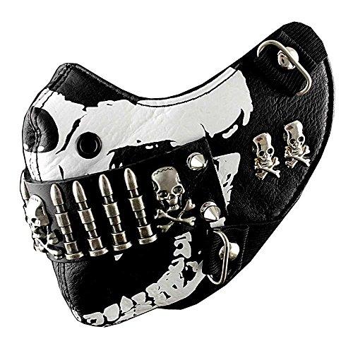 Bullet Mask Mens Punk Rock Biker Custome Hip Hop Motorcycle