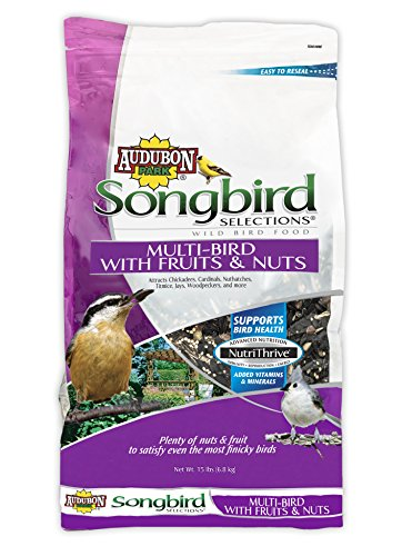 Audubon Park Songbird Selections 11980 Multi Wild Bird Food with Fruits and Nuts, 15 lb