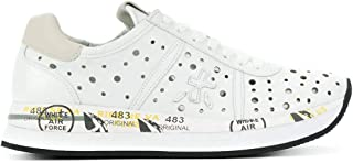 Luxury Fashion   Premiata Women CONNY2967 White Leather Sneakers   Spring-summer 20