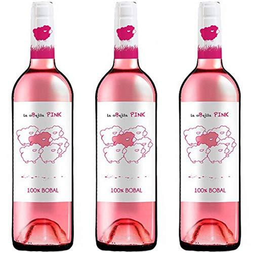 Obejita Vino Rosado - 3 botellas x 750ml - total: 2250 ml