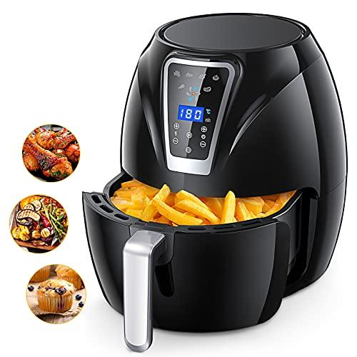 Friteuse Sans Huile 4,3L,Air Fryer avec Écran Tactile 6 Prér