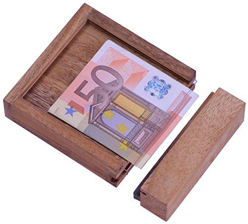 LOGOPLAY Money - Der Geldschein-Tresor - für Geldgeschenke in schöner Verpackung - Trickkiste - Denkspiel - Knobelspiel - Geduldspiel - Logikspiel aus Holz
