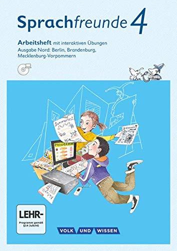 Sprachfreunde - Sprechen - Schreiben - Spielen - Ausgabe Nord (Berlin, Brandenburg, Mecklenburg-Vorpommern) - Neubearbeitung 2015 - 4. Schuljahr: ... Ãœbungen auf scook.de - Mit DVD-ROM