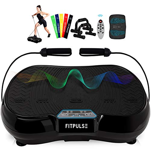 FITPULSE Classic Vibration Plate Exercise Machine - Vibration Platform Machine Vibrating Platform Body Vibration Machine Vibrating Machine Vibration Plates Vibrating Plate Exercise Plates
