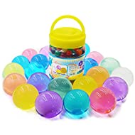 Fangoo 300Pcs Large Gel Soil Beads, Crystal Water Balls Vase Filler Non-Toxic for Home Decoration