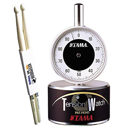 Tama TW100 Tension Watch Schlagzeug Stimmgerät + keepdrum Drumsticks