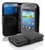 Cadorabo Funda Libro para Samsung Galaxy Pocket Neo en Negro ÓXIDO - Cubierta Proteccíon de Cuero Sintético Estructurado con Tarjetero y Función de Suporte - Etui Case Cover Carcasa