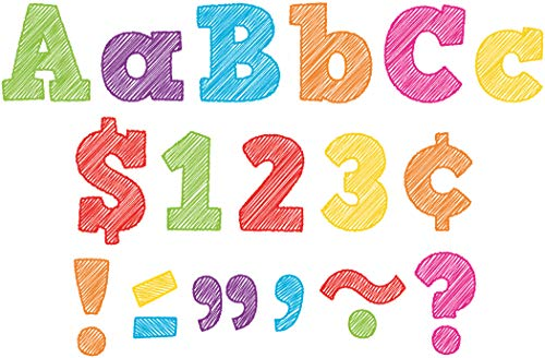 "Teacher Created Resources 2686 Scribble Bold Block 4"" Letters Combo Pack"