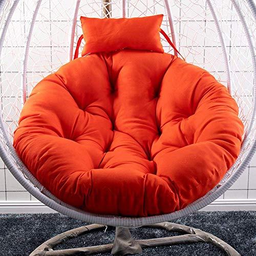 YQGOO Swing Hanging Chair Sitzkissen Hanging Egg Hängematte Stuhlpolster Wasserdicht verdicken Nest Hängesessel Rücken für Patio Garden (Ohne Stuhl)