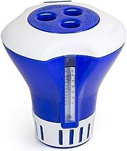 RHG Dosificador Automático de Piscinas Dispensador de Cloro Flotante para Piscinas con Termómetro para Limpieza de Piscinas
