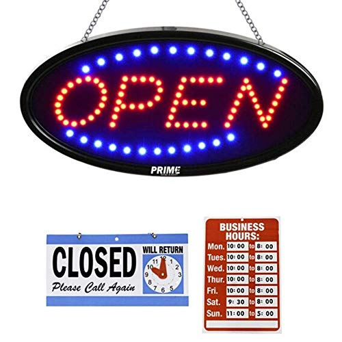 LED Open Sign for Business - 23 x 14 inch (Bigger Size) LED Shop Light - Neon Sign - Dual Modes for Flashing & Stead Light for Business Storefront, Walls, Office, Window, Shop Light, Bar