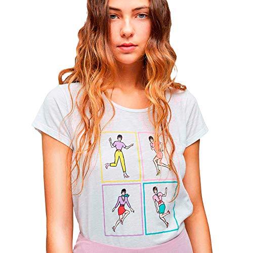 Dolores Promesas PV19 1024BLANCO Camiseta, Blanco (Blanco 00), Medium (Tamaño del Fabricante:M) para Mujer