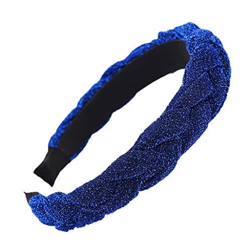 Yvelands Damen Mode Stirnbänder Breit Haarbänder zöpfe Frauen Haar Kopf Hoop einfache süße mädchen helle Seide haarbänder